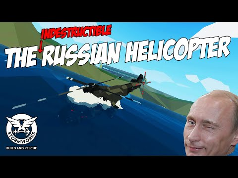 RUSSIAN HELICOPTER Vs WATER! (Stormworks Build And Rescue)