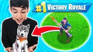 If My Little Brother Gets A Fortnite Win I Will Buy Him A Puppy! *Not Clickbait*
