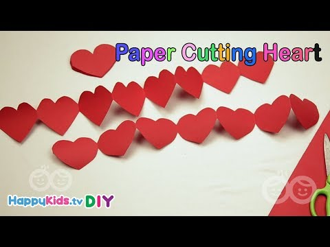 Paper Cutting Heart | Paper Crafts | Kid's Crafts and Activities | Happykids DIY