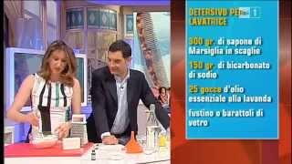 Autoproduzione detersivi per bucato a mano e lavatrice Lucia Cuffaro Unomattina in Famiglia Rai 1