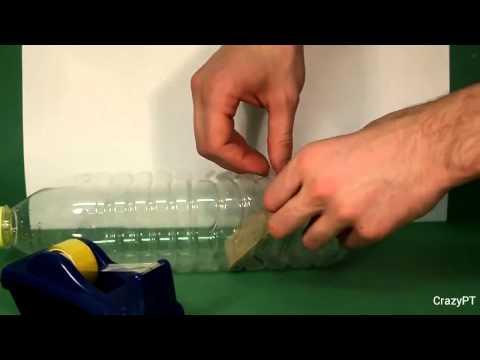 Как сделать мышеловку из бутылки. смотреть в хорошем качестве