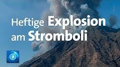 Vulkan Stromboli vor Sizilien ausgebrochen