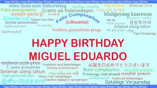 MiguelEduardo   Languages Idiomas - Happy Birthday