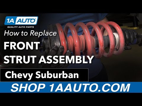 How to Replace Install Front Strut Assembly 07-13 Chevy Suburban