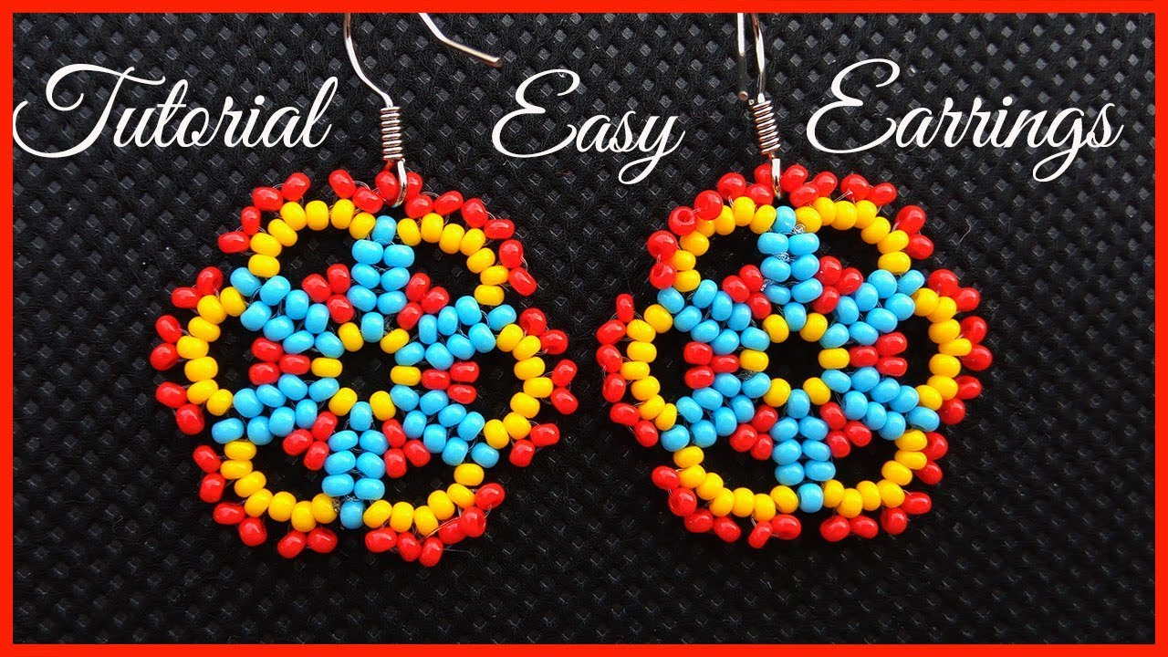 Easy Lace Seed Bead Earrings Tutorial For Beginners