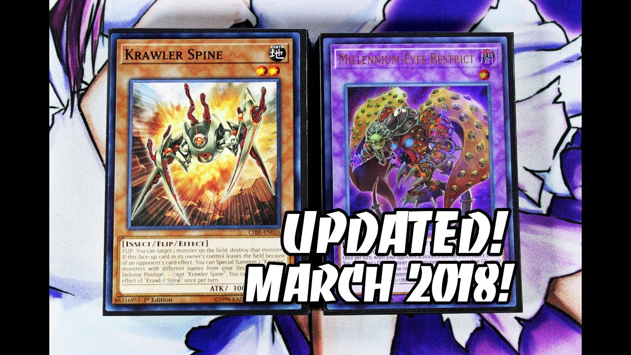 Yu Gi Oh Updated Krawler Deck Profile Post Ancient Millennium March 2018 Links Control Deck Youtube