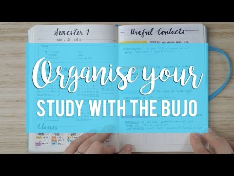 ORGANISE YOUR STUDY WITH THE BULLET JOURNAL |  Sam Granger