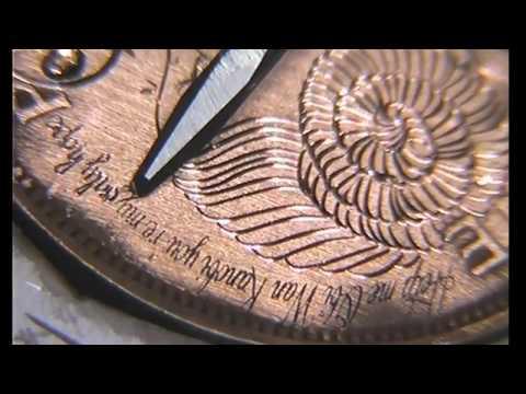 Hand Engraved  Live Stream Princess Leia Penny