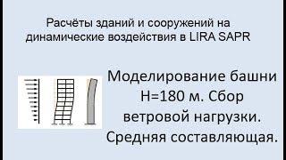 Расчёт зданий и сооружений на динамические воздействия в Lira Sapr Урок 11