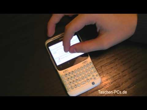 HTC Chacha Facebook Smartphone Review Deutsch (German)