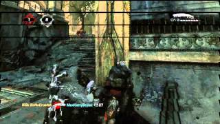 RiSk Bonecrusha  Gears of War 3 Shotgun Montage ( The Ghost Inside - Dark Horse )