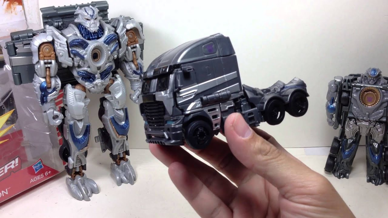 galvatron power battlers transformers 4 age of extinction toy review