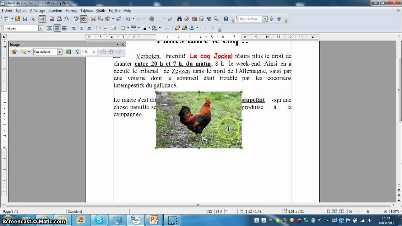 comment inserer une photo dans un cv openoffice