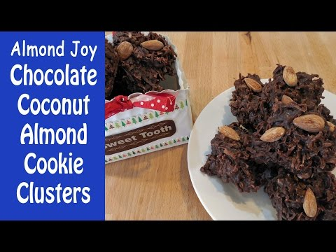 Almond Joy Chocolate Coconut Cookie Clusters