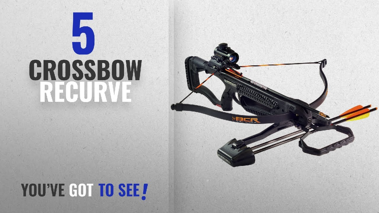Top 10 Recurve Crossbow [2018]: Barnett Outdoors BCR Recurve Crossbow  Package, Large, Black