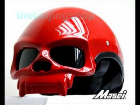 DOT approved Skull Motorcycle Helmet by thebeijingshop.com