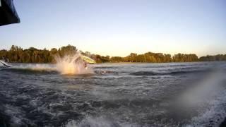 Jet ski and boat crash