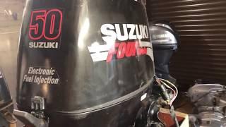 Suzuki DF50 гидроподъемник