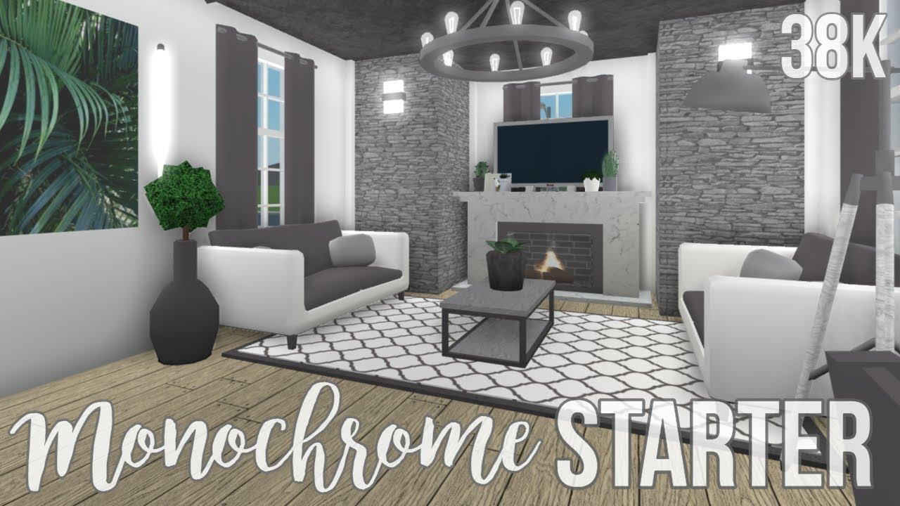 Bloxburg Monochrome Starter House 38k No Gamepasses