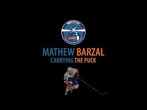 Mathew Barzal Carrying the Puck