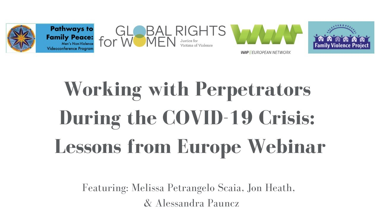 Working with Perpetrators during the COVID-19 Crisis: Lessons from Europe