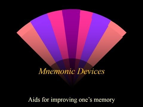 Educate Yourself: Mnemonic Devices