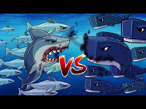 Minecraft | 101 SHARKS VS 101 WHALES! (Shark Attack Massive Mob Battle)