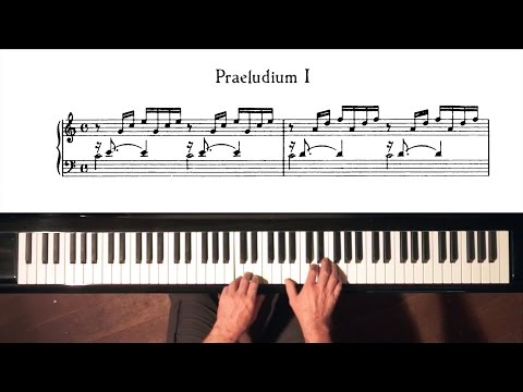 Bach Prelude and Fugue No.1 Well Tempered Clavier, Book 1 with Harmonic Pedal