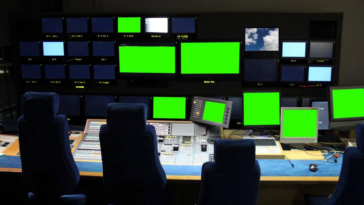 BBC studio in green screen free stock footage - YouTube