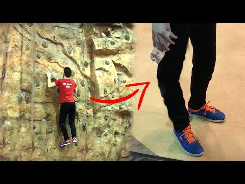 I fell during rock climbing... *broke my knee*