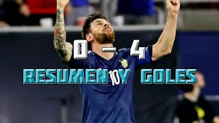 USA vs  Argentina 0-4 Copa América Centenario 2016 - Resumen y Goles HD 21/06/16