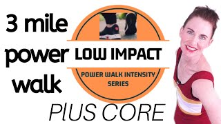 60 MINUTE WORKOUT | POWER WALK + CORE WORKOUT  | 3 MILE POWER  WALK | INDOOR WALK