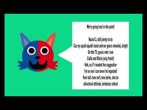 Hard in the Paint by Fandroid with lyrics (Splatoon)
