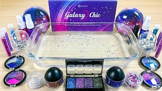 Season 'Theme' Series #14 'GALAXY' / Mixing eyeshadow and glitter into Clear Slime