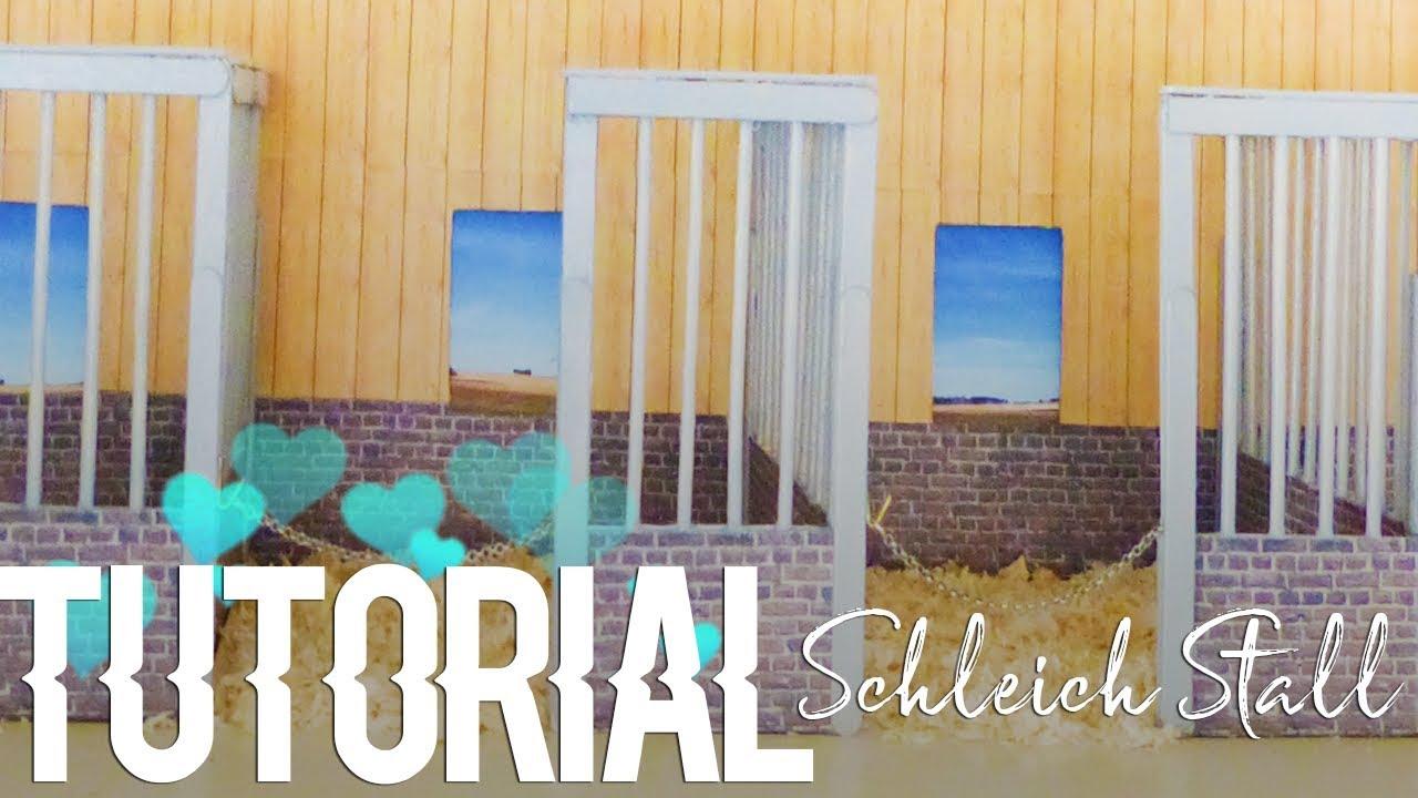 schleich pferdestall selber bauen ✁ tutorial - youtube