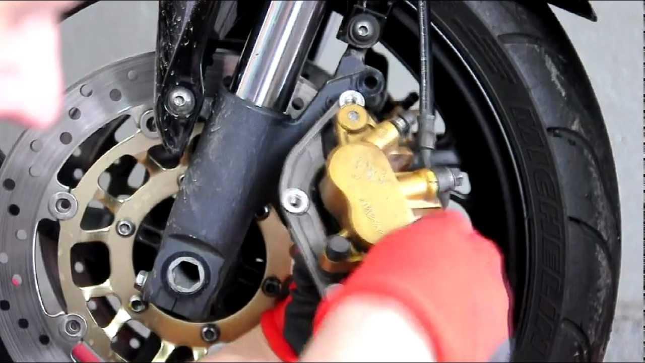 Motobonus Wymiana Klocków Hamulcowych W Motocyklu Honda Hornet 600