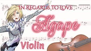In Regards To Love: Agape Yuri!!! On Ice Violin