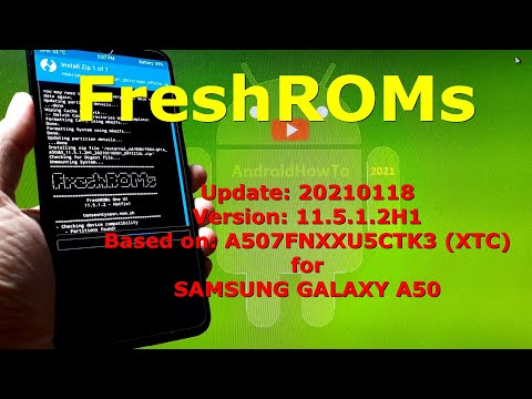 FreshROMs v11.5.1.2H1 Android 10 for Samsung Galaxy A50 Update: 20210118