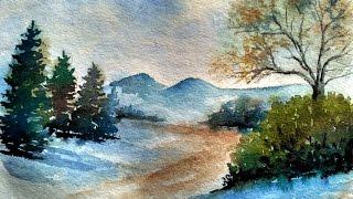 landscape easy simple painting paint david
