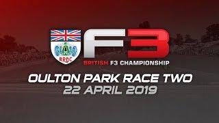 BRDC British F3 Championship, race two, Oulton Park 2019