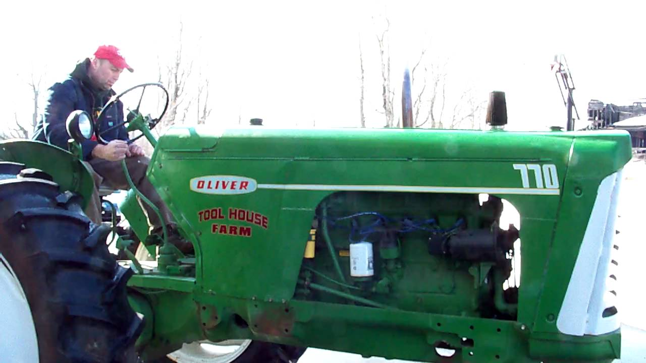 hight resolution of oliver 770 tractor