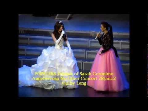 Sarah Geronimo & Anne Curtis - IDontWannaMissAThing @ Annebisyosa 01.28.12