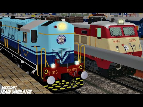 Loco Failed of West Coast Superfast Express | Rescue By TNP WDM7 | MSTS Open Rails Journey Part 1