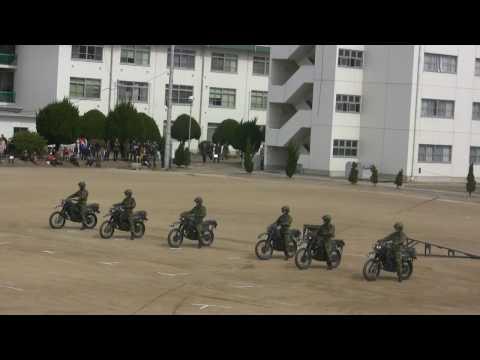 Motorcycle Drill by JGSDF 陸自偵察隊によるオートバイドリル [HD]