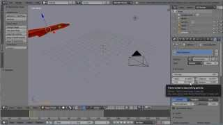 Blender Animation Tutorial, A Jet Crash Landing, Setting an Initial Velocity for the Physics Engine