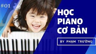 [PIANO MOZART] - Tự học piano online - Bài 1 - Tư thế chơi đàn, bài luyện ngón số 1