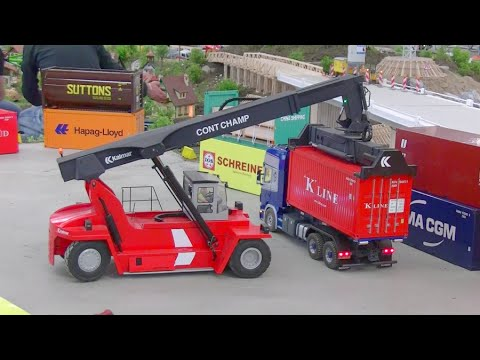 CONTAINER LOADER - RC CONTAINER CRANE - BIG RC CRANE - CONTAINER !