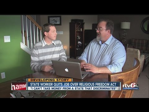 State employee quits job over religious freedom law