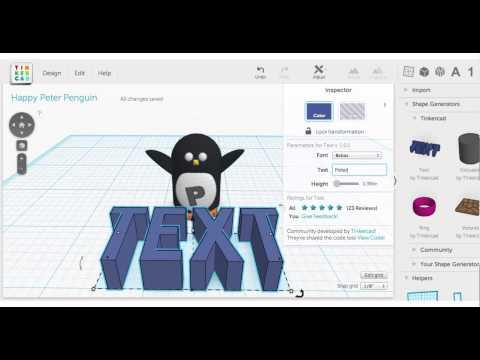 Tinkertip: Text Shape Generator
