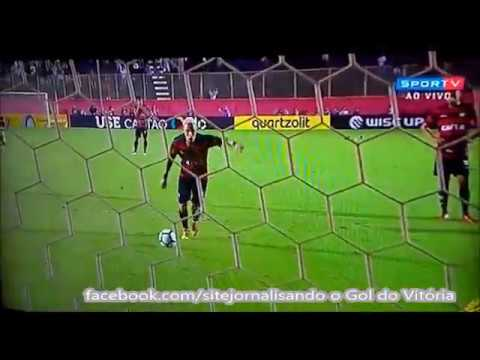 Gol do Vitória Neilton cobrando pênalti. 1 a 0 no Inter e decisão nos  pênaltis. 0a010e904b689